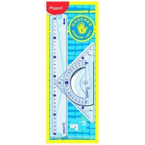 Σετ Γεωμετρικά Όργανα 3Τμχ Για Αριστερόχειρες Maped 30CM 897118