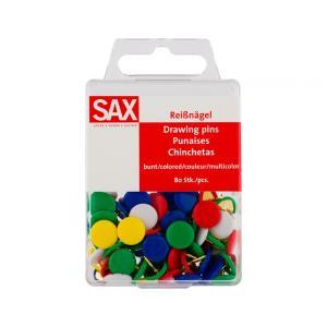 Πινέζες Sax πολύχρωμες 80 Τμχ 811-02
