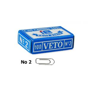 Veto No2 25mm συνδετήρες ατσάλινοι 100τμχ