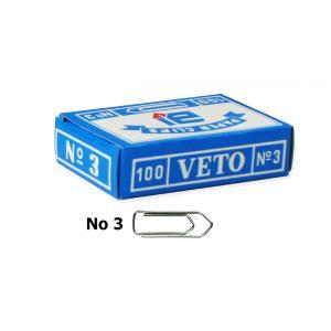 Veto No3 30mm συνδετήρες ατσάλινοι 100τμχ
