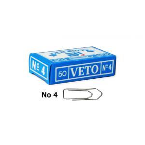 Veto No4 33MM συνδετήρες ατσάλινοι 50τμχ