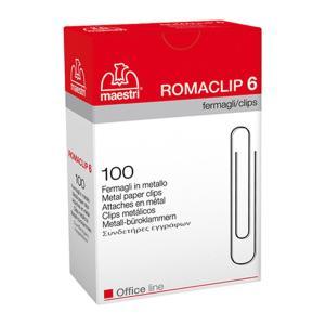 Romaclip MAESTRI Νο6 συνδετήρες μεταλλικοί 100τεμ