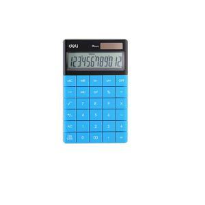 Αριθμομηχανή Deli 12 Ψηφίων 16.5Χ10.3 Μπλε