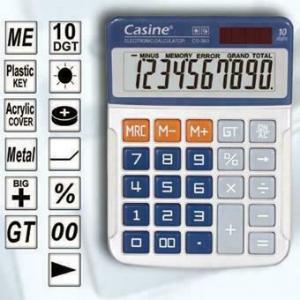 Αριθμομηχανή Casine CS-363 Ηλιακή 10 Ψηφίων