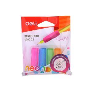 Pencil Grip - Κάλυμμα Μολυβιού - Μαξιλαράκι για Στυλό Deli Blister σε 4 Χρώματα