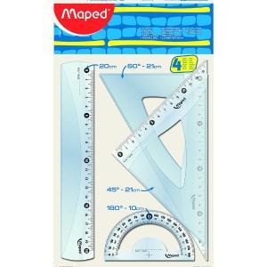 Σετ Γεωμετρικά Όργανα 4Τμχ Maped Cristal 20cm 242820