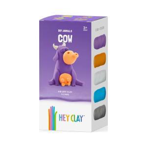 Δημιουργικό παιχνίδι με πηλό! Hey Clay Claymates Αγελάδα Πολύχρωμο MAN003