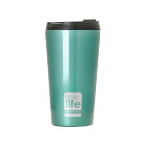 Θερμός Ανοξείδωτος Ecolife Coffee Light Blue 370ml 33-BO-4001