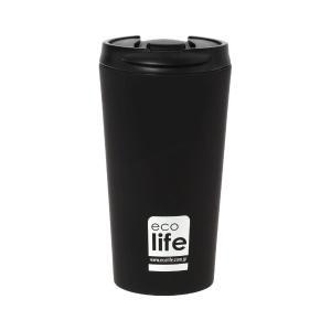 Θερμός Ανοξείδωτος Ecolife Coffee Black 370ml 33-BO-4105