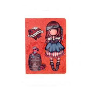 Τετράδιο - Σημειωματάριο Santoro Gorjuss Glitter Mary Rose με Κάλυμμα PVC A6 80Φ 1106GJ02