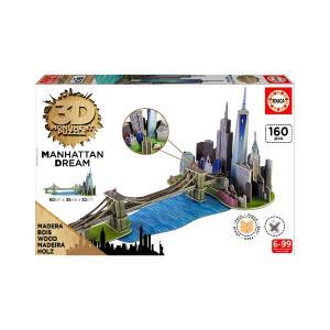 Puzzle Educa 3D Monument 160τεμ Manhattan Dream 7000
