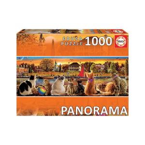 Puzzle Educa Panorama Cats on the Pier 1000τεμ 18001