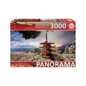 Puzzle Educa Panorama Fuji & Pagoda 3000τεμ 18013