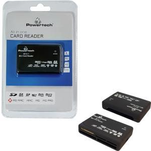 POWERTECH Card Reader All in one, USB, 480Μbps, LED, μαύρο