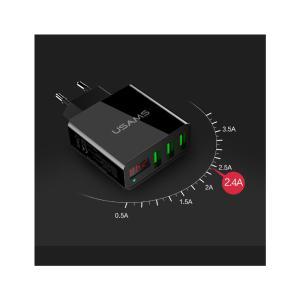 Φορτιστής Τοίχου Samsung CC35TC03 με οθόνη, 3x USB, 3A, Μαύρος