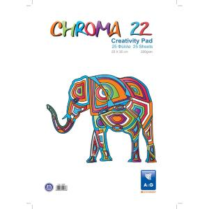 Μπλοκ Κολλάζ Κανσόν A&G Paper 25 Φύλλα με Χρωματιστά Χαρτόνια 12550 25X35