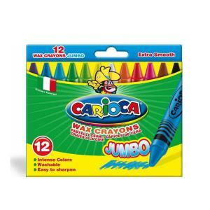 Κηρομπογίες Carioca Jumbo 12mm 12 Χρωμάτων 23065