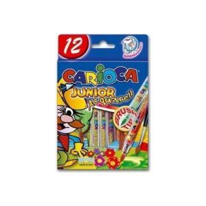 Μαρκαδόροι Ζωγραφικής Carioca Junior 12τεμ