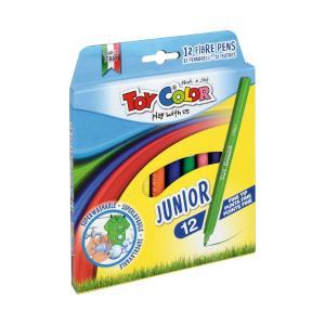 Μαρκαδόροι Ζωγραφικής Toy Color Junior Fine Tip 12τεμ 220.030Ν