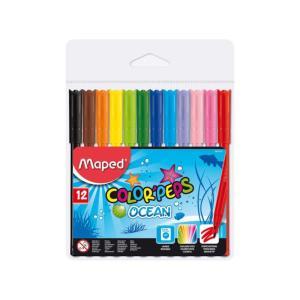 Μαρκαδόροι Ζωγραφικής Maped Colorpeps Ocean 12τεμ