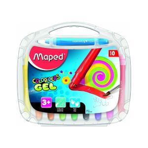 Κηρομπογίες Ζωγραφικής Maped Colorpeps Gel 10τεμ 836310