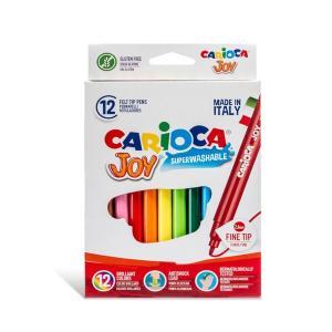 Μαρκαδόροι Ζωγραφικής Joy Carioca Superwhashable Fine 12τεμ 40614
