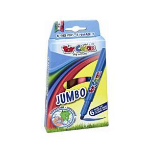 Μαρκαδόροι Ζωγραφικής Toy Color Jumbo 6τεμ 220.040Ν