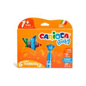 Μαρκαδόροι Ζωγραφικής Carioca Baby 42815 6τεμ