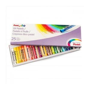 Λαδοπαστέλ Pentel 25 Χρώματα PHN-25-U