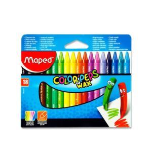 Κηρομπογίες Maped Colorpeps Wax 18 Χρώματα 861012