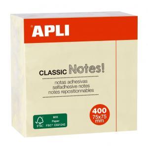 Κύβος Αυτοκόλλητος - Χαρτάκια Σημειώσεων APLI NOTES 400Φ 7.5*7.5