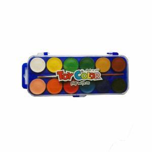 Νερομπογιές με Πινέλο Toy Color 12τεμ