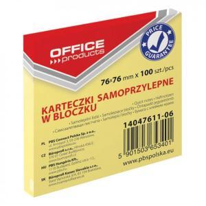 Post-it Κύβος Αυτοκόλλητος Κίτρινος Office 100Φ 7.6*7.6