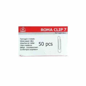 Romaclip MAESTRI Νο7 συνδετήρες μεταλλικοί 50τεμ