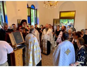 Πλήθος πιστών στον Αρχιερατικό Εσπερινό της εορτής της Αγίας Μαρίνας Καλογέρων
