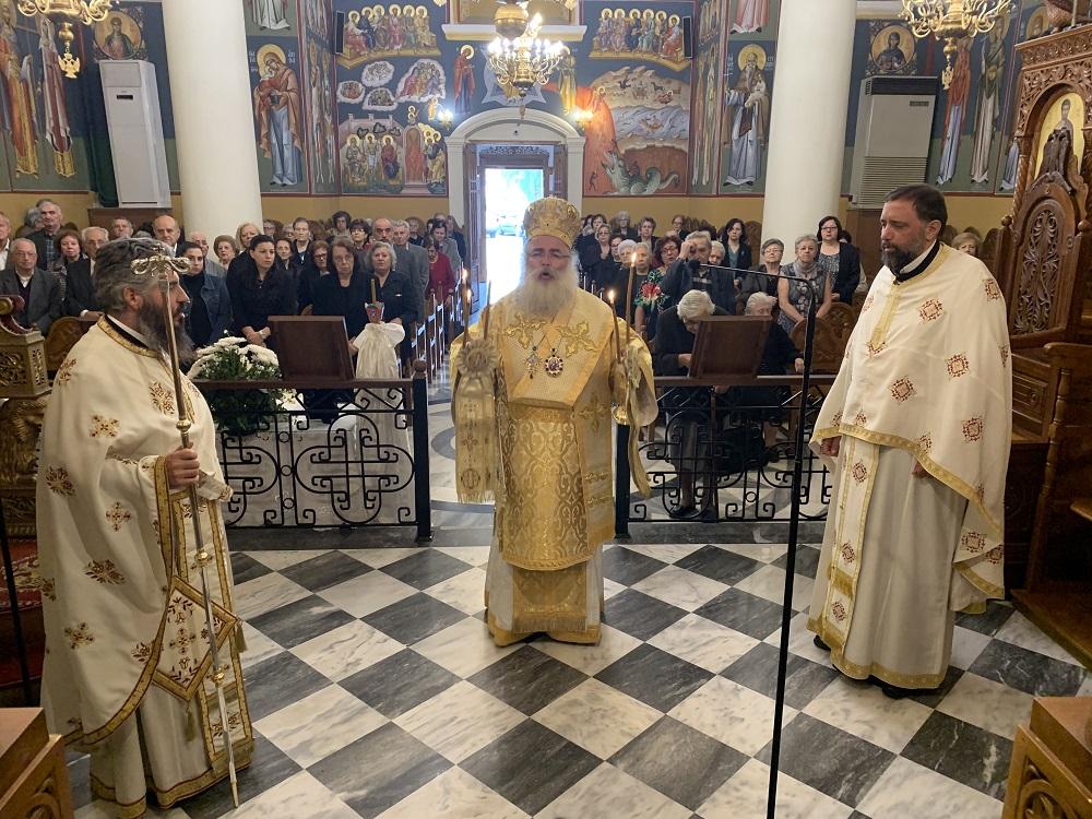 Αρχιερατική Θεία Λειτουργία και σαρανταήμερο μνημόσυνο στον Ιερό Καθεδρικό Ναό Αγίας Αικατερίνης