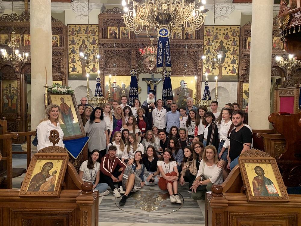 Επίσκεψη μαθητών από Πολωνία, Τουρκία και 1ο ΓΕ.Λ. Ιεράπετρας στην Ι. Μητρόπολη Ιεραπύτνης και Σητείας στο πλαίσιο του προγράμματος «ERASMUS+»