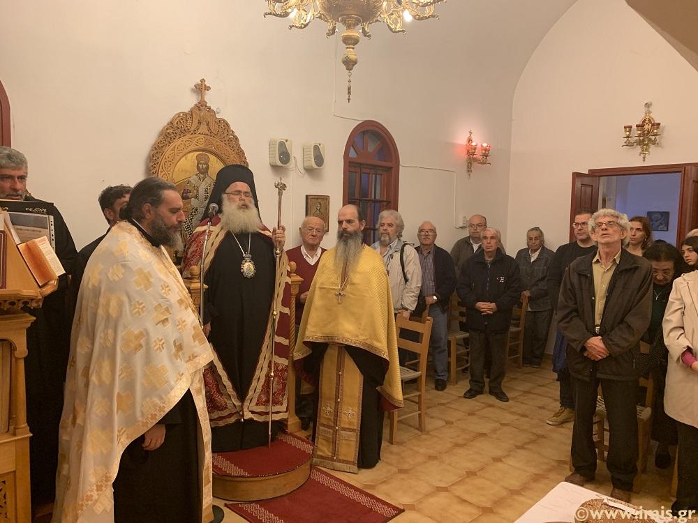 Ο Αρχιερατικός Εσπερινός στον πανηγυρίζοντα Ι. Ναό Αγίου Ανδρέου Ιεράπετρας