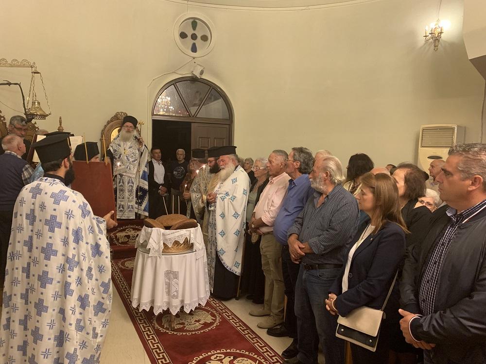 Με λαμπρότητα ο Αρχιερατικός Εσπερινός στο Ιερό Προσκύνημα του Μιχαήλ Αρχαγγέλου Ιεράπετρας