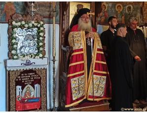 Με λαμπρότητα ο Μέγας Αρχιερατικός Εσπερινός της εορτής της Κοιμήσεως της Θεοτόκου στην πανηγυρίζουσα Ι. Μονή Παναγίας Φανερωμένης Ιεράπετρας.