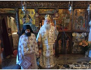 Χειροθεσία Ηγουμένου κατά την πανήγυρη της Ι. Μονής Παναγίας Φανερωμένης Ιεράπετρας.