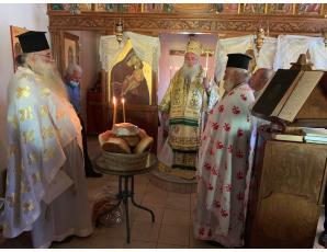 Αρχιερατική Θεία Λειτουργία και μνημόσυνο στο Ρούσσο Ξύλο στις Μάλλες Ιεράπετρας
