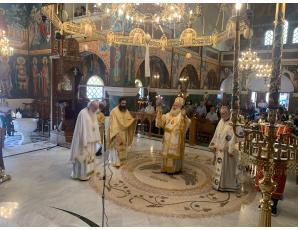 Αρχιερατική Θεία Λειτουργία στον Ιερό Ναό Ευαγγελισμού Θεοτόκου πόλεως Σητείας.