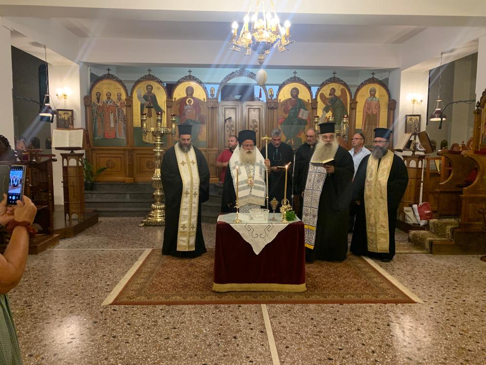 Ο Αγιασμός στις Σχολές Βυζαντινής Μουσικής, Αγιογραφίας-Ψηφιδωτού και παραδοσιακών Μουσικών Οργάνων της Ιεράς Μητροπόλεως Ιεραπύτνης και Σητείας στην πόλη της Ιεράπετρας.