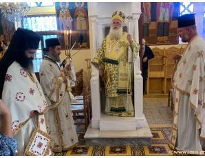Αρχιερατική Θεία Λειτουργία στον Ιερό Ναό Ζωοδόχου Πηγής Επισκοπής Ιεράπετρας.