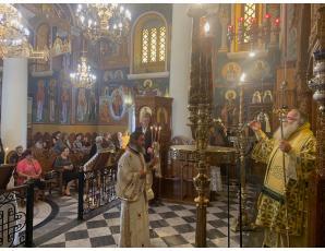 Αρχιερατική Θεία Λειτουργία στον Ιερό Καθεδρικό Ναό Αγίας Αικατερίνης Σητείας.