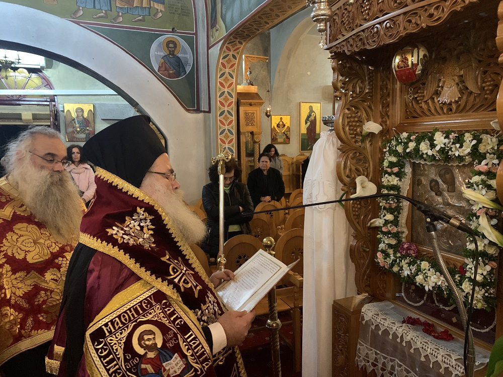 Η Β΄ Στάση των Χαιρετισμών της Υπεραγίας Θεοτόκου στην Ενορία Παναγίας Ελεούσης Ιεράπετρας.