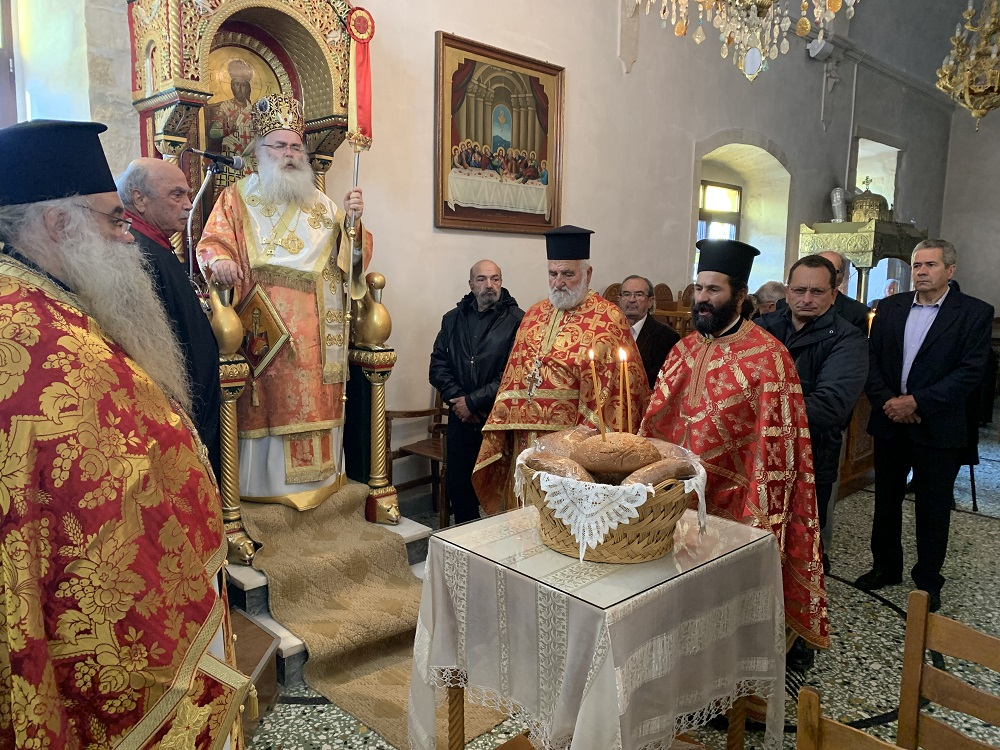 Αρχιερατική Θεία Λειτουργία στον Ιερό Ναό Αγίου Χαραλάμπους Μαλλών.