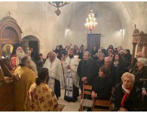 Αρχιερατικός Εσπερινός στον Ιερό Ναό Αγίου Αντωνίου και η κοπή της Βασιλόπιτας της Τοπικής Κοινότητας Μύρτου Ιεράπετρας.