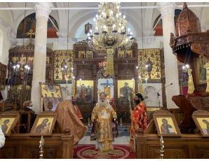 Η πρώτη του έτους στον Ιερό Μητροπολιτικό Ναό Αγίου Γεωργίου Ιεράπετρας